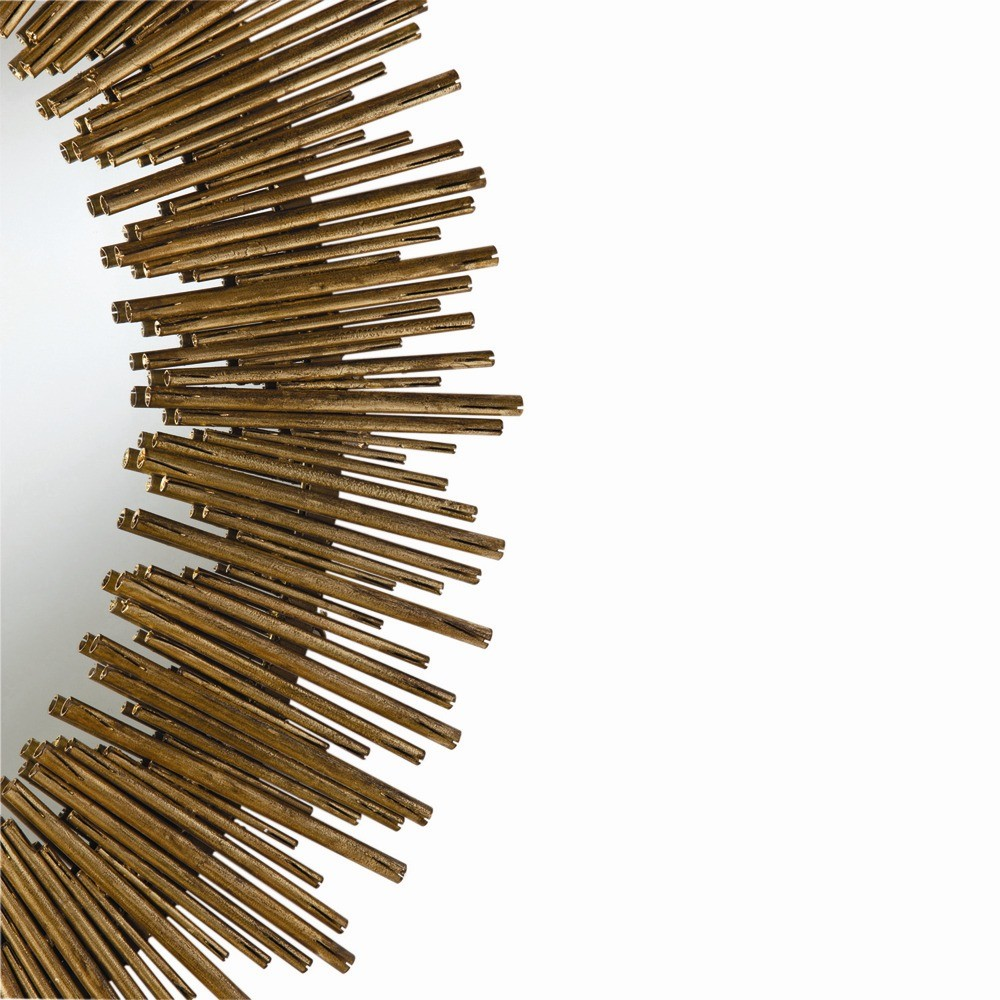 Arteriors prescott large oval mirror antiqued gold leaf for Prescott mirror