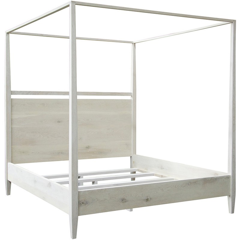 Cfc Washed Oak Modern 4 Poster Bed East King