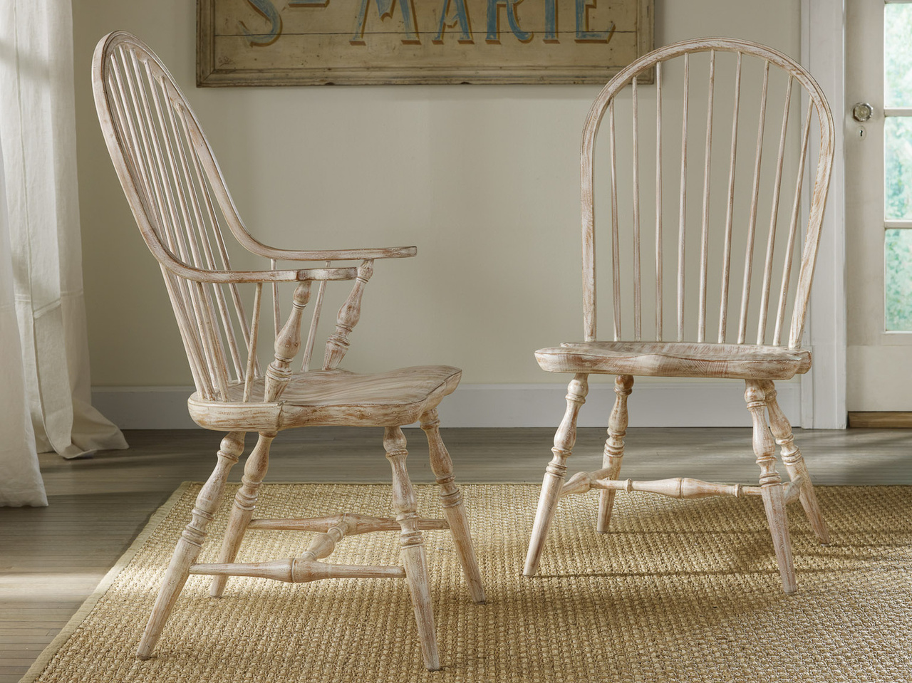 Somerset Bay Palmetto Windsor Chair Apricot Tart Side