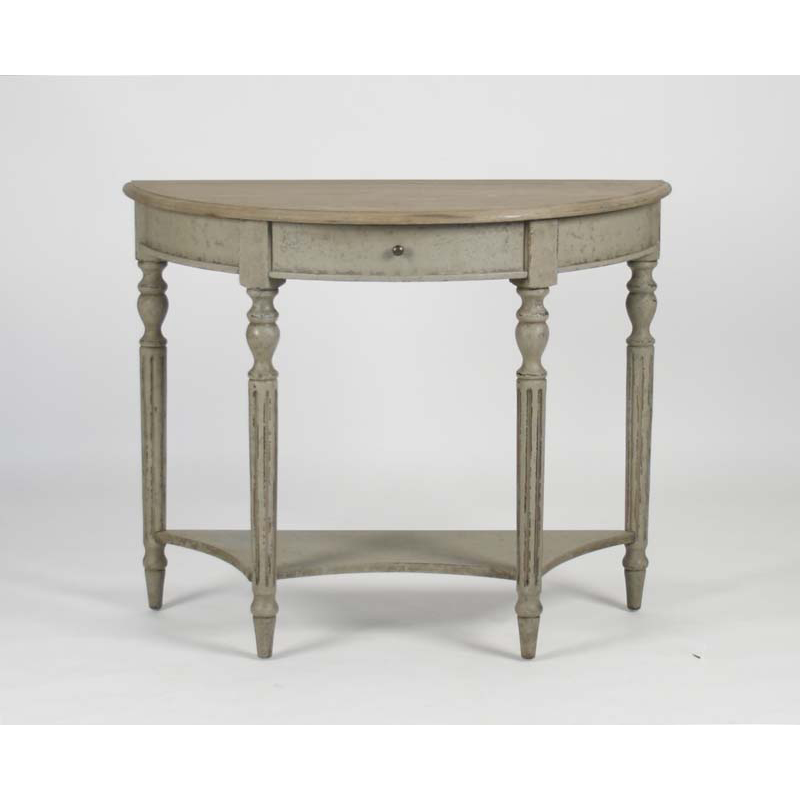 zentique demi lune wall console. Black Bedroom Furniture Sets. Home Design Ideas
