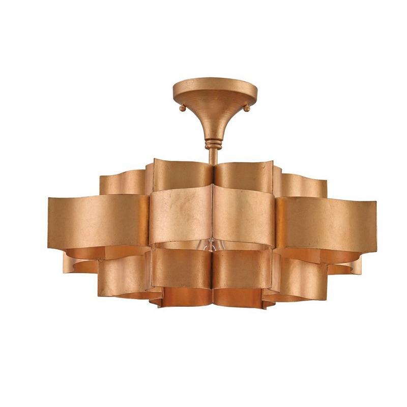 Currey And Company Lotus Chandelier: Currey & Company Grand Lotus Pendant & Semi-Flush Mount