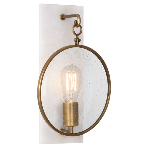 Aged Brass Wall Sconces : Robert Abbey Fineas Wall Sconce - Aged Brass - Alabaster