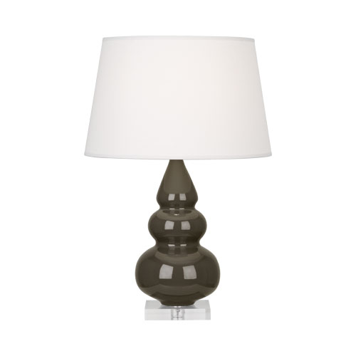 robert abbey small triple gourd accent table lamp brown tea