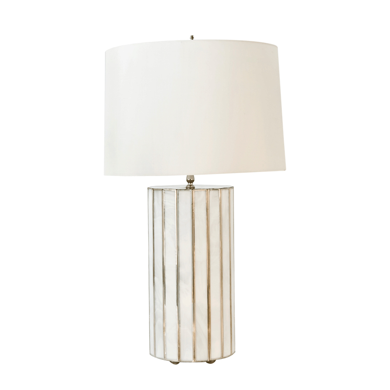worlds away gordo large faceted white glass lamp base clear cord. Black Bedroom Furniture Sets. Home Design Ideas