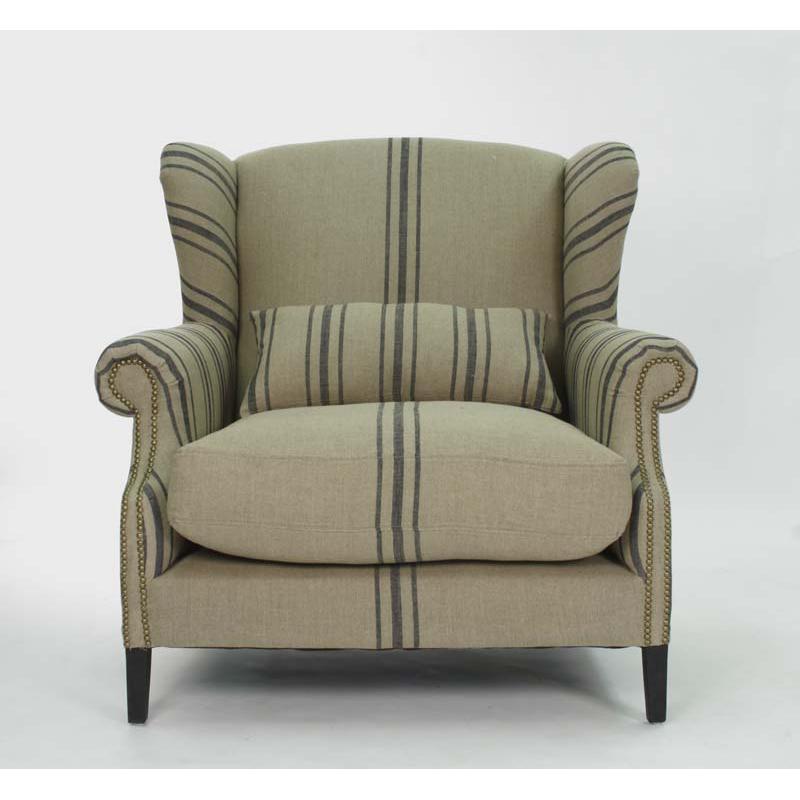 zentique napoleon half wingback chair. Black Bedroom Furniture Sets. Home Design Ideas