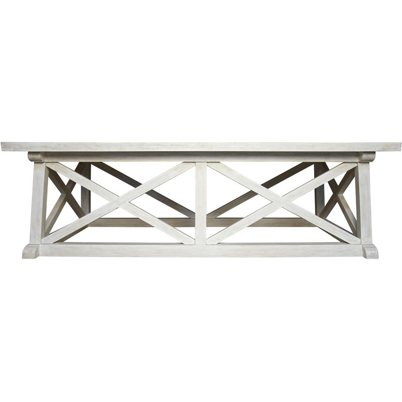 Noir Sutton Coffee Table White Wash