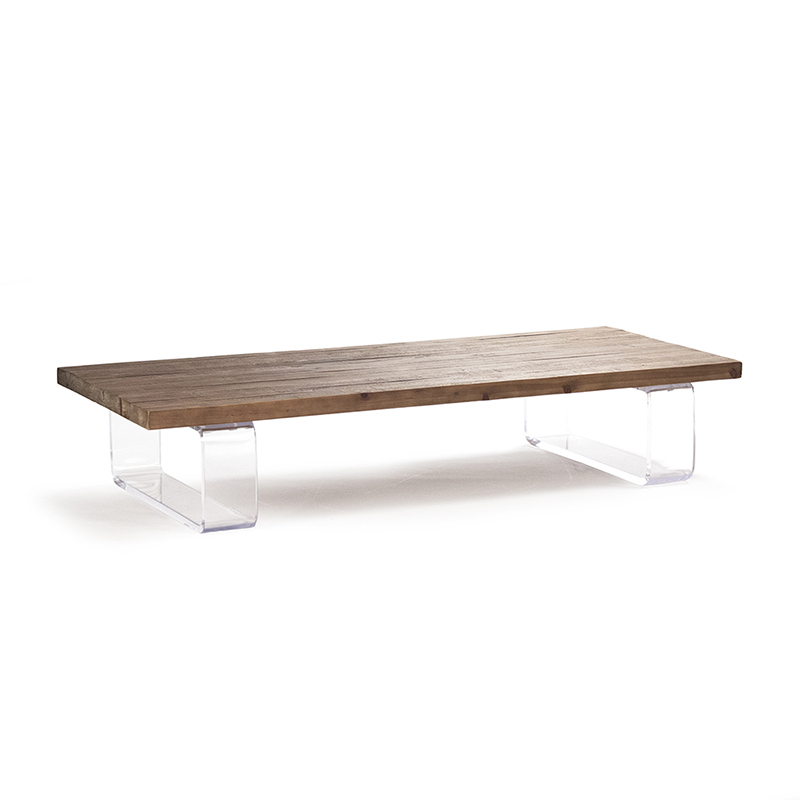 Zentique acrylic coffee table for Used acrylic coffee table