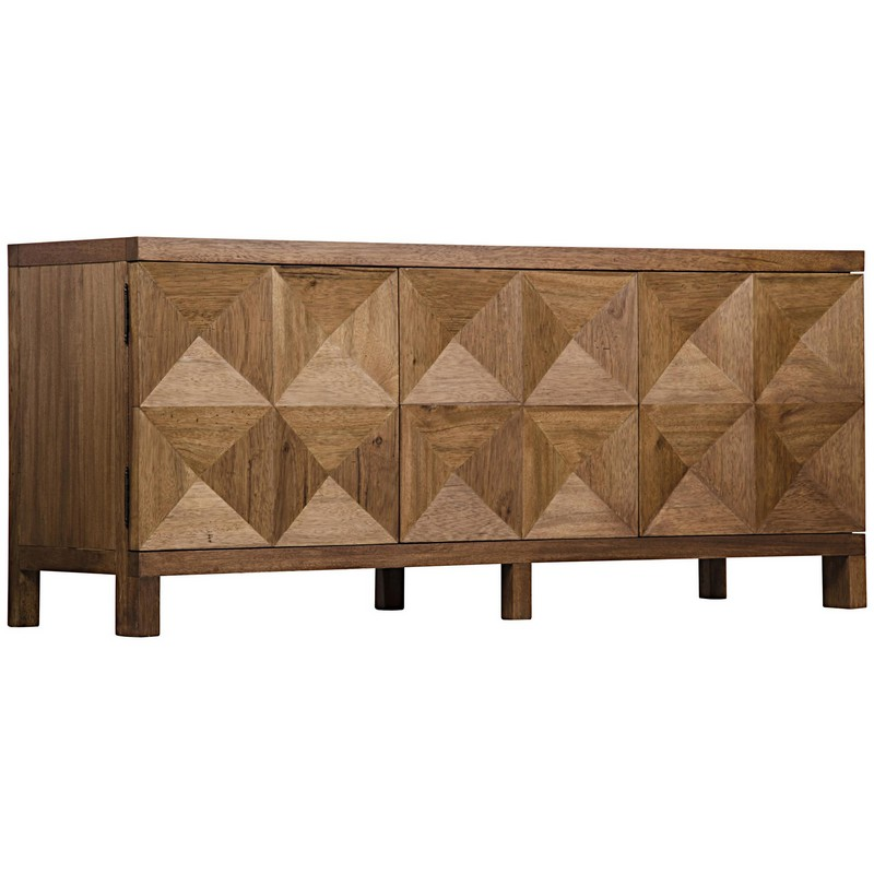 Noir 3 Door Quadrant Sideboard Dark Walnut