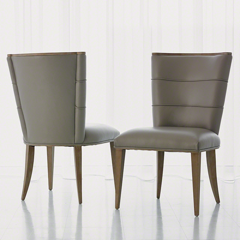 Studio A Adelaide Side Chair Grey Leather