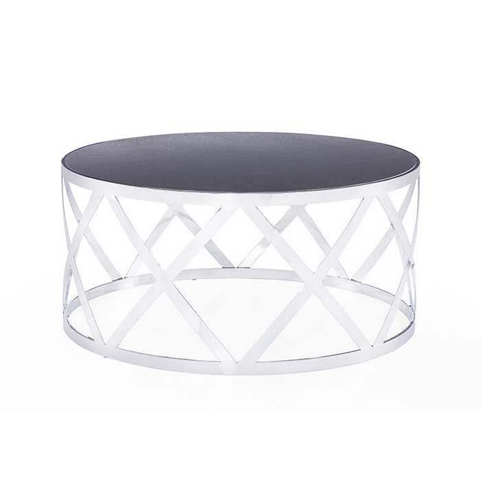 Blink home tribeca cocktail table charcoal for Charcoal coffee table