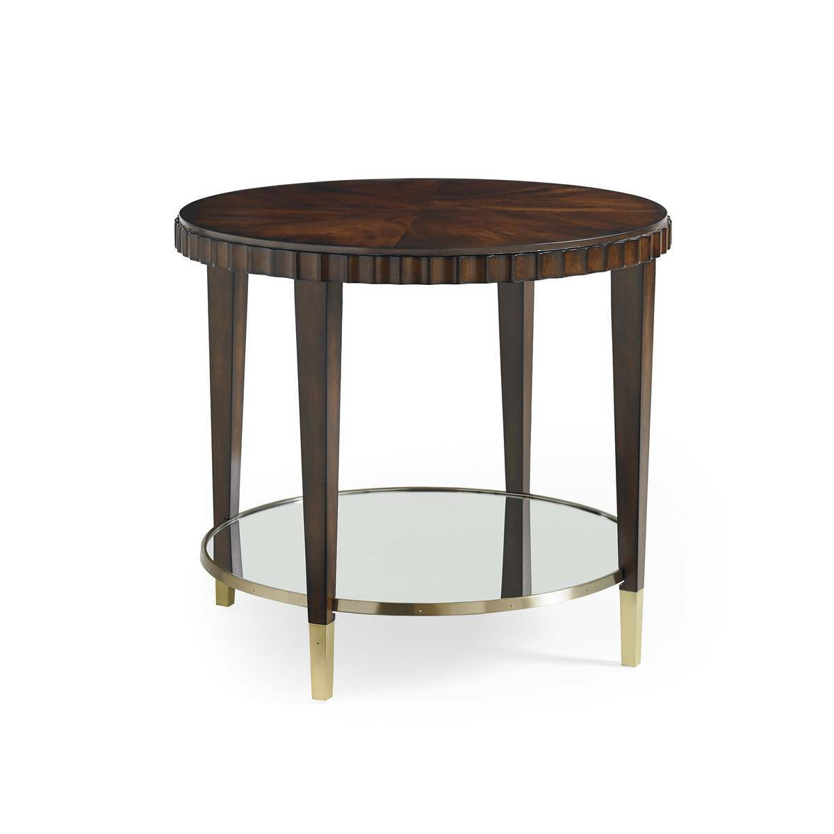 Caracole catch a glimpse cherry blossome mahogany for Cherry side table