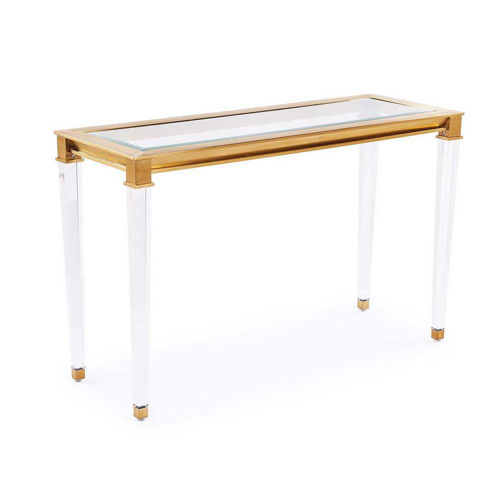 Blink Home Presley Console Table Antique Gold