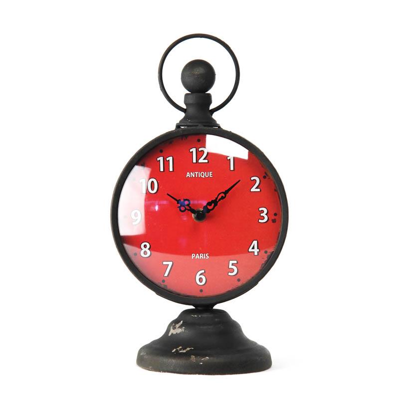 Zentique Red Face Desk Clock