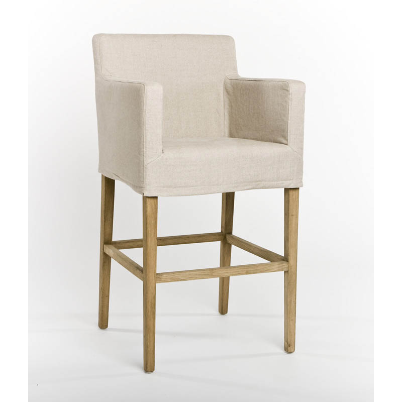 Zentique Avignon Slipcover Bar Stool