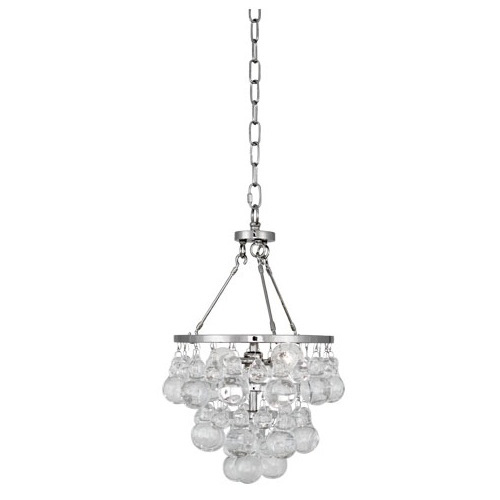 Robert Abbey Bling Chandelier Small Polished Nickel