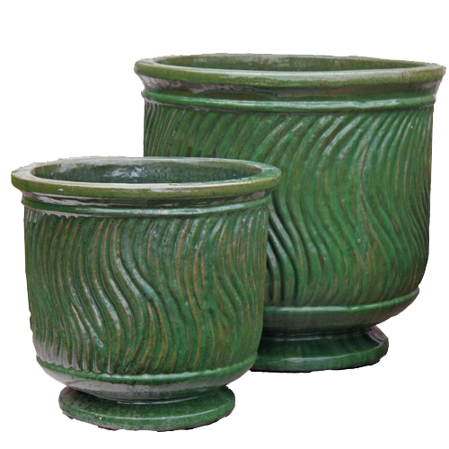 Anamese chenelle planter set of 2 apple green for Furniture 888 formerly green apple