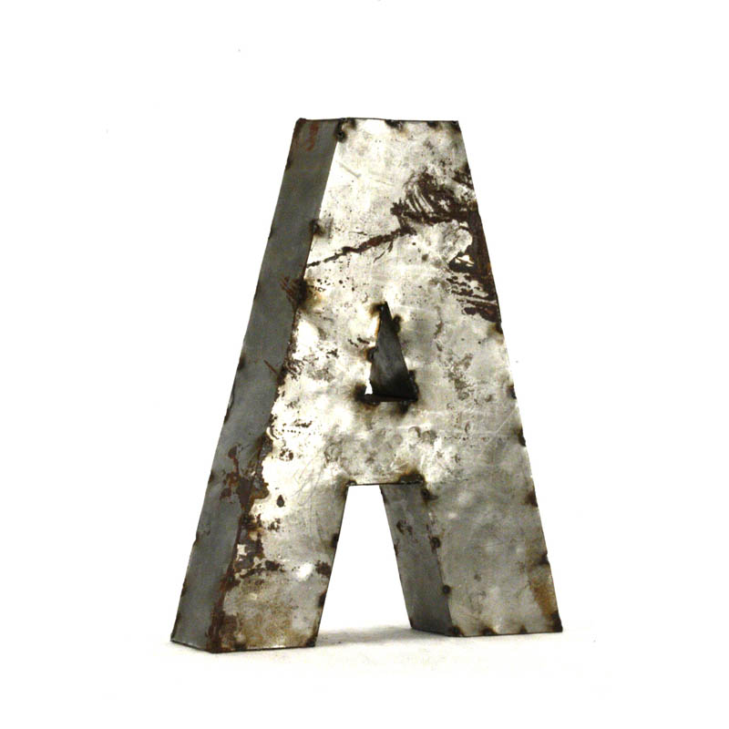 zentique small metal letters metal letter a With metal letter a