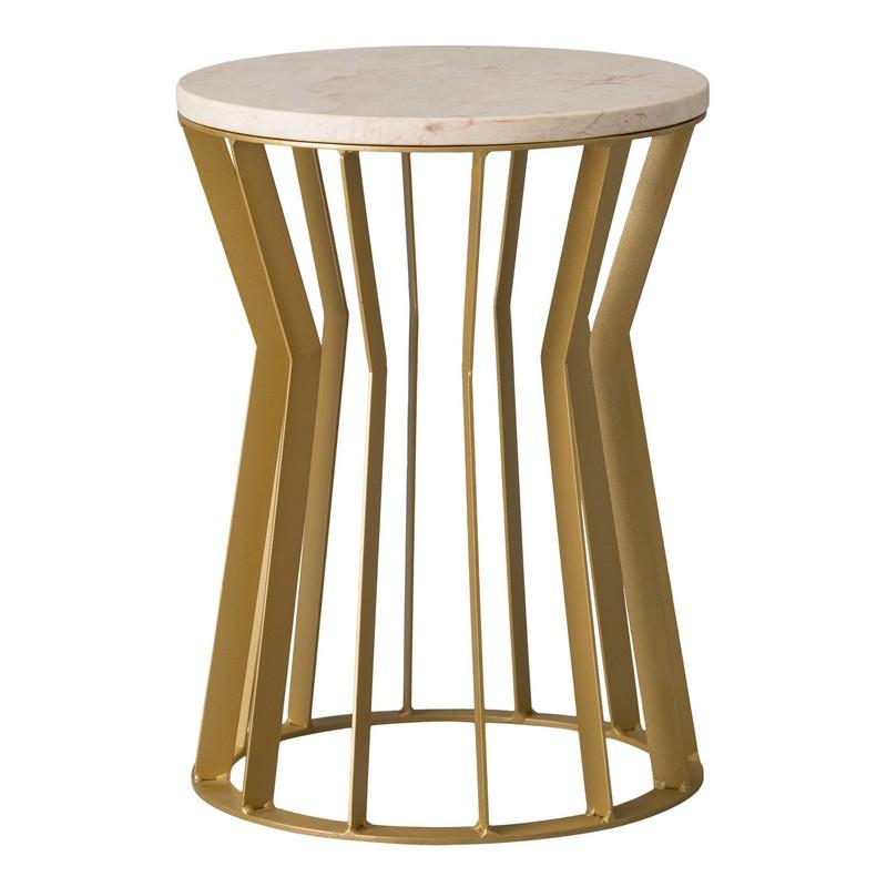 Emissary Millie Metal Stool Table Gold