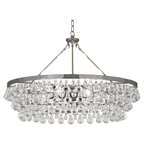 Robert Abbey Bling Chandelier Polished Nickel