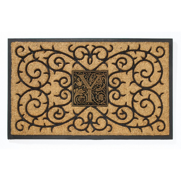 Whitehall Coir Knot Doormat Mat Personalized Cast: Whitehall Personalized Coir Monogram Mat
