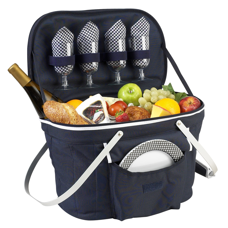 Collapsible Insulated Picnic Basket For 4 : Picnic at ascot collapsible insulated basket for