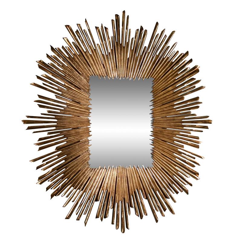 Global Views Sunburst Mirror Nickel: Studio A Soleil Mirror
